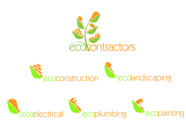 eco contractors logo design